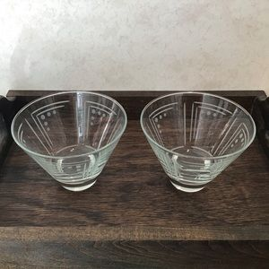 Princess House Aston Etched Martini Glasses, Pair